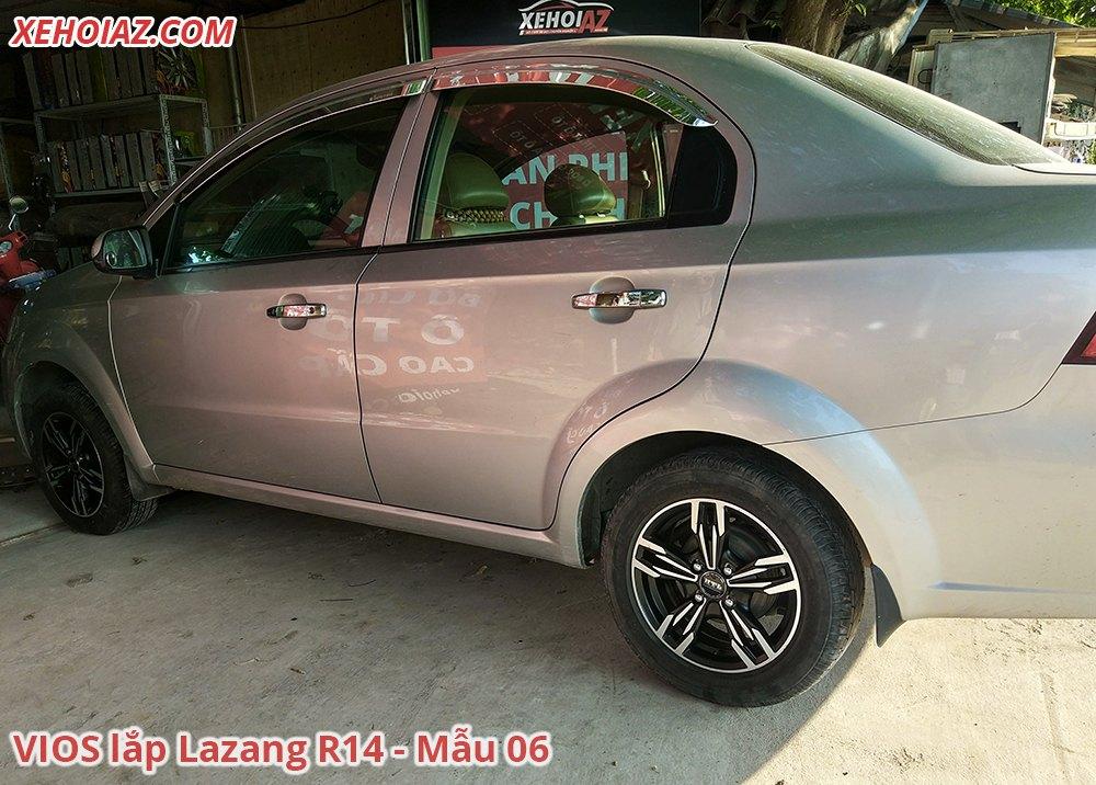06 1 - Bộ lazang ô tô 14 inch cao cấp Morning, Vios, i10, Getz, Gentra..v.v.