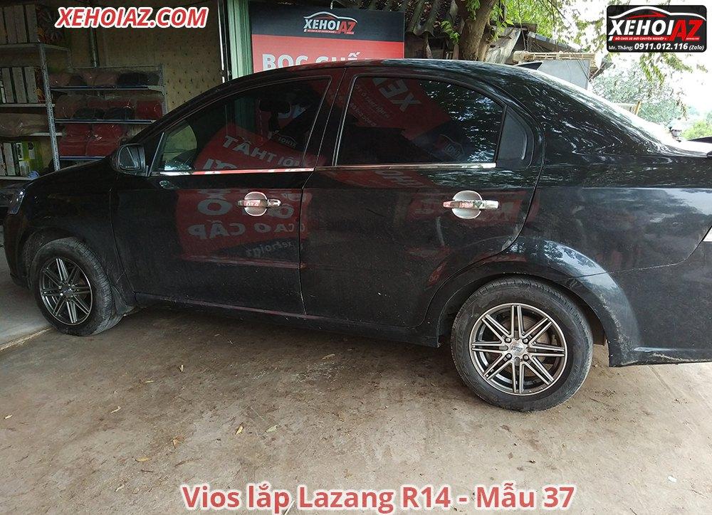 37 01 - Bộ lazang ô tô 14 inch cao cấp Morning, Vios, i10, Getz, Gentra..v.v.