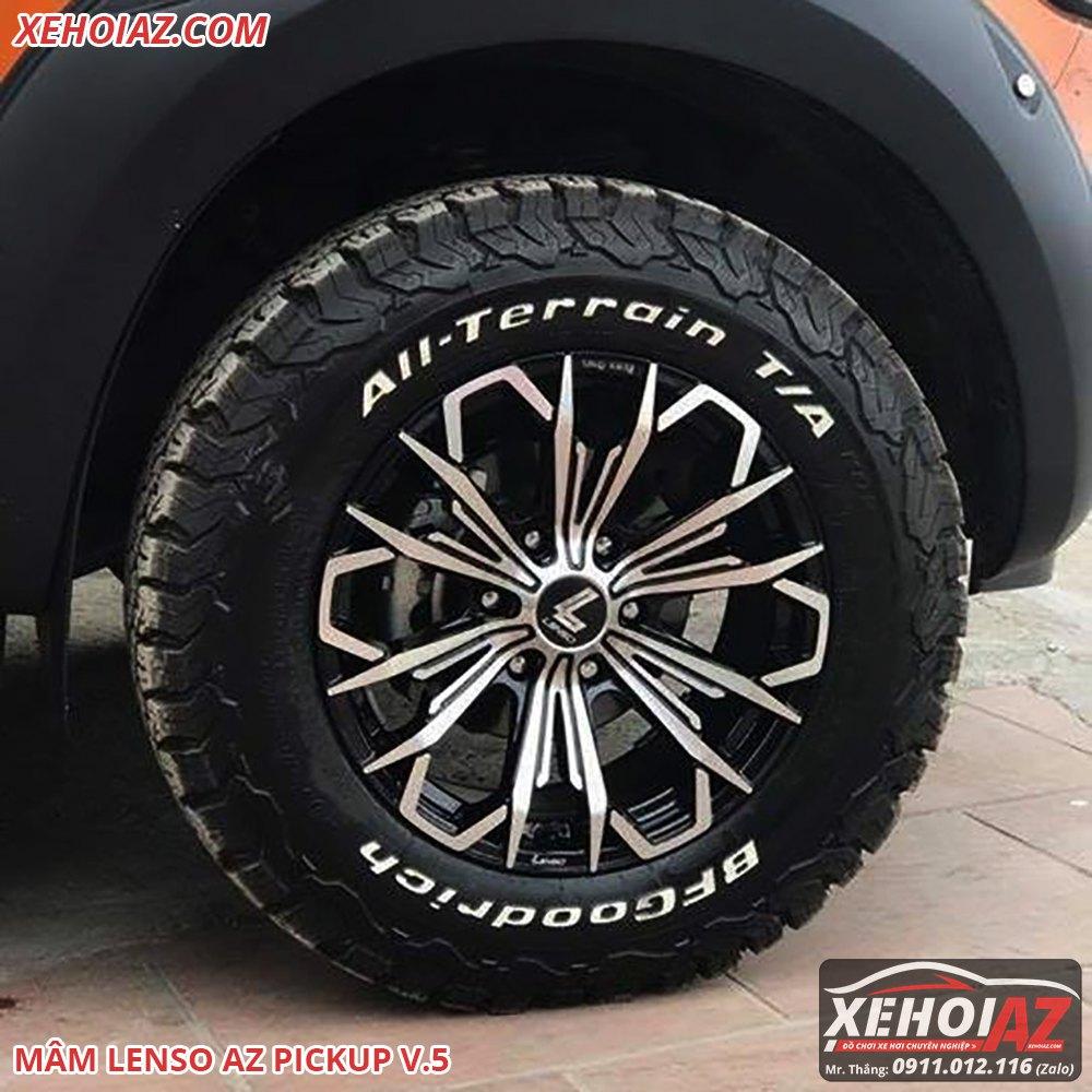 Mâm đúc LENSO Thái Lan18 inch độ cho xe bán tải và xe SUV - AZ PICKUP V.5