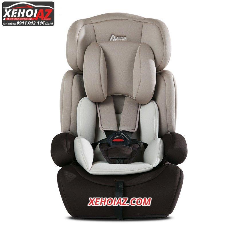 Ghế ngồi ô tô cho bé –mẫu AZ-01 –Mầu xám + đen