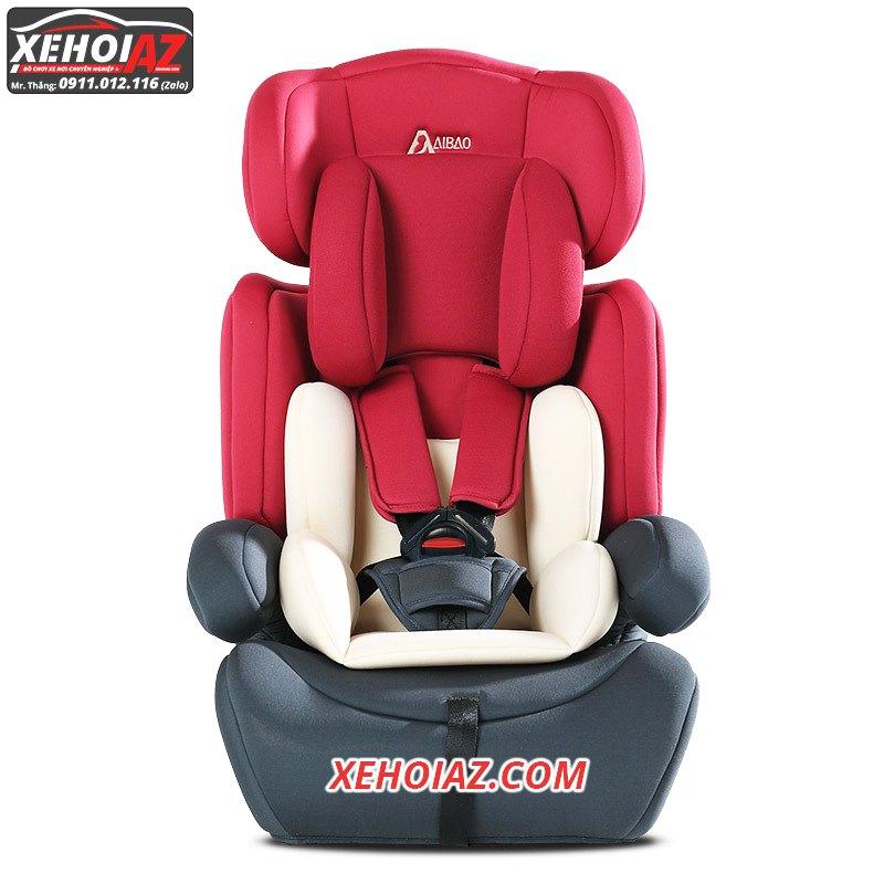 Ghế ngồi ô tô cho bé –mẫu AZ-01 –Mầu xám + đỏ