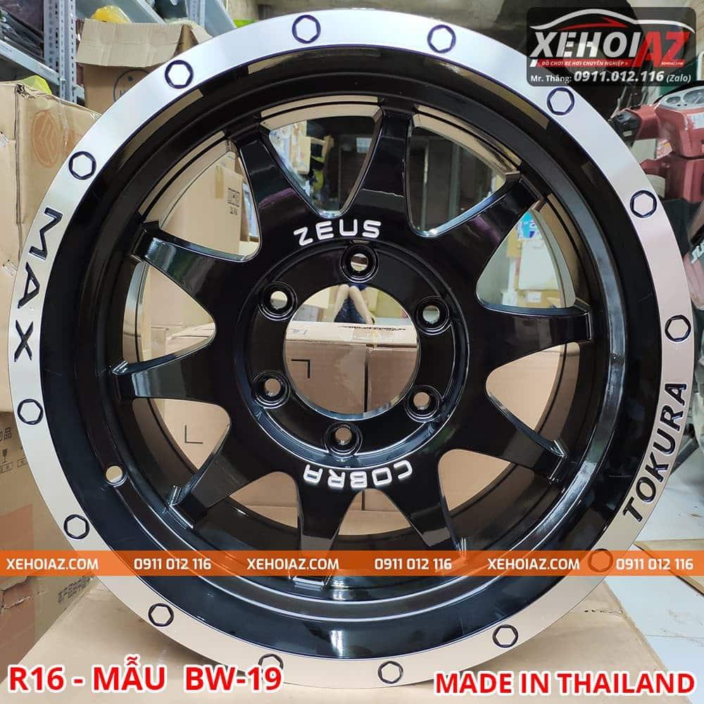 lazang oto 16 inch xe ban tai bw 19 01 - Lazang ô tô 16 inch 6 lỗ lắp cho xe bán tải Mẫu BW-19 (Hàng Thái Lan)